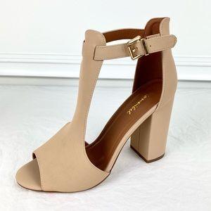 New Bonnibel Chunky Heel Shoes Cream Beige 10